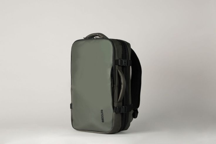 Padded ergonomic backpack straps with sternum strap and a back panel with airflow channel system keep you comfortable.
