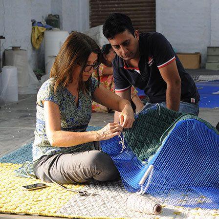 charlotte lancelot cria o bordado em parceria com os artesãos