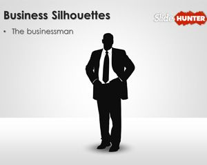 businessman silhouettes for PowerPoint