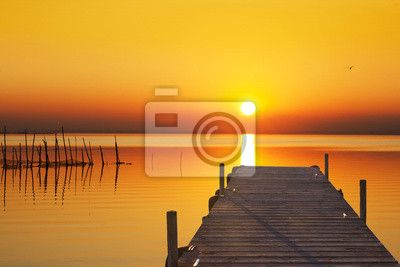 Fototapeta el lago del sol dorado