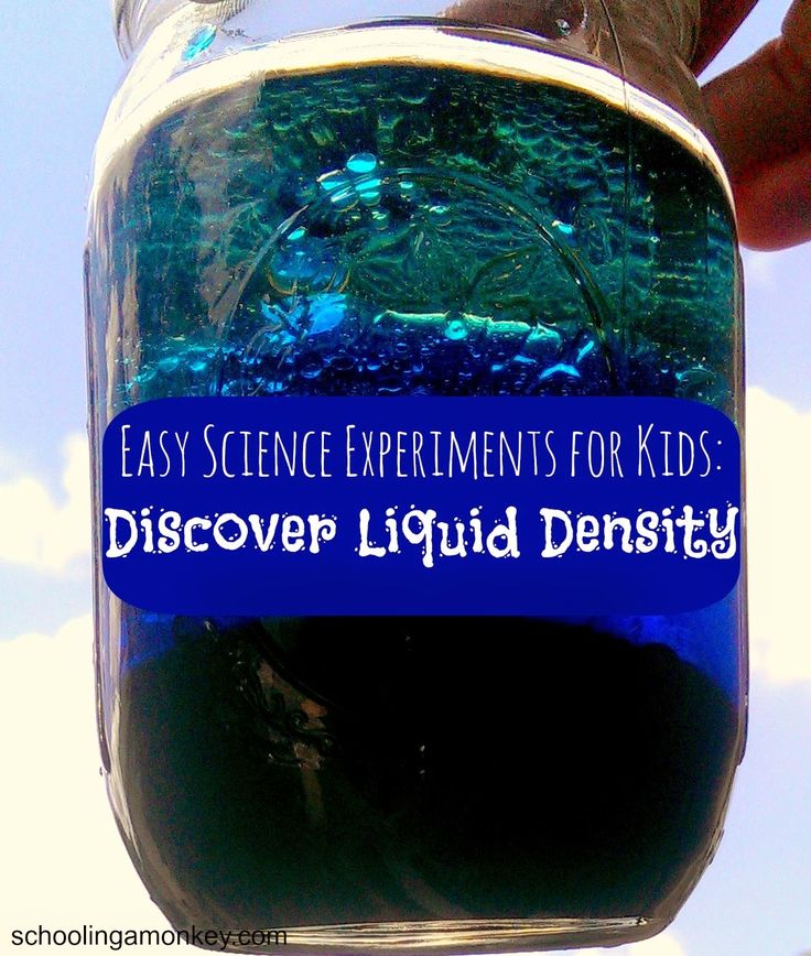 Easy Science Experiments for Kids: Discover Liquid Density ~ Schooling a Monkey