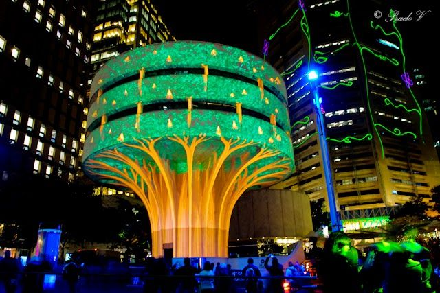 The necessity of urban greenery conceptualised and delivered brilliantly by Vivid Sydney makers