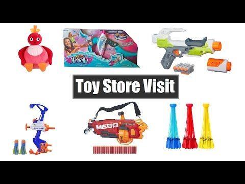 Toy Store Visit - NERF Dolphina Torpedo Bow,Modulus,Mega Mastodon,Talking Toodloo - Part 02 - YouTube