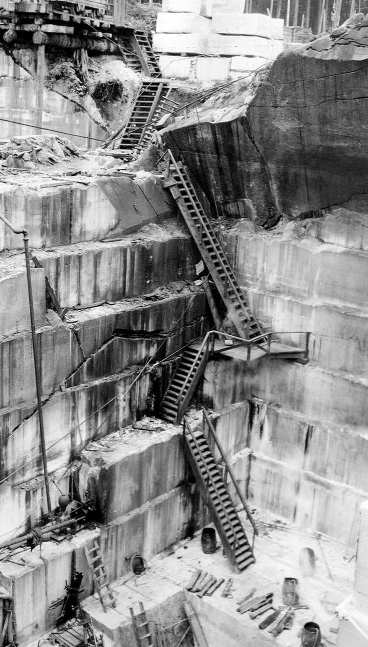 BLDGBLOG Shots of a Quarry in Illinois. Photos courtesy of the U.S. Geological Survey.