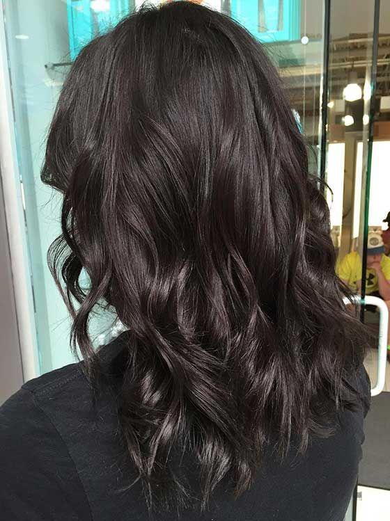 Цвета волос палитра темный шоколад