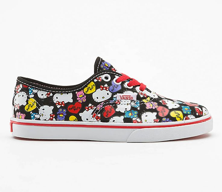 cool vans shoes for girls black and red | Hello kitty ...