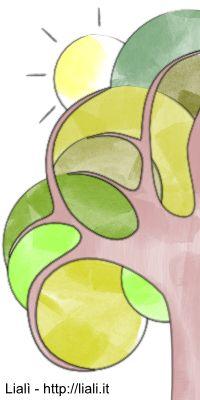 albero da colorare