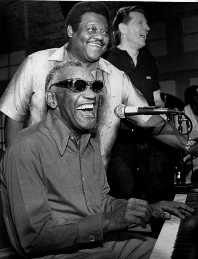 Ray Charles, Fats Domino and Jerry Lee Lewis.  Taping of Fats Domino And Friends on June 5, 1986, in New Orleans.