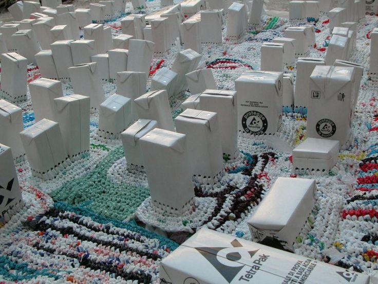 Patchwork city - Contemporary art by Enrica Borghi