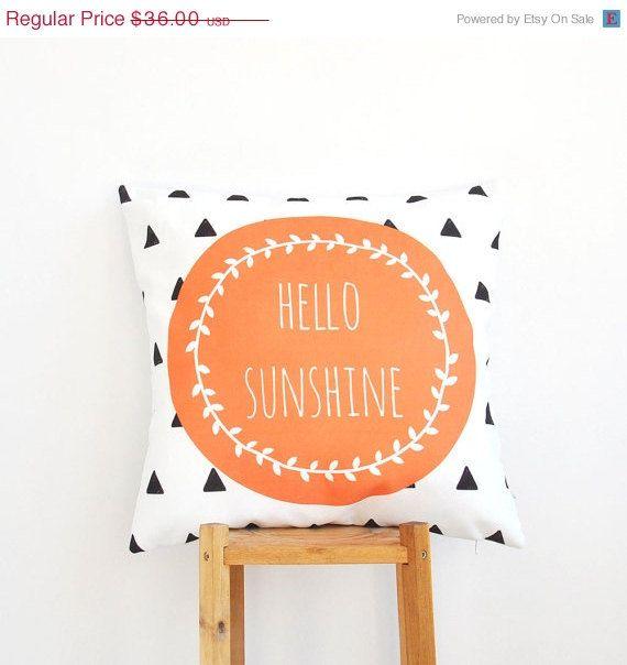 CIJ Sale Geometric Nursery Pillow Decorative by LoveJoyCreate, $32.40  So cute.