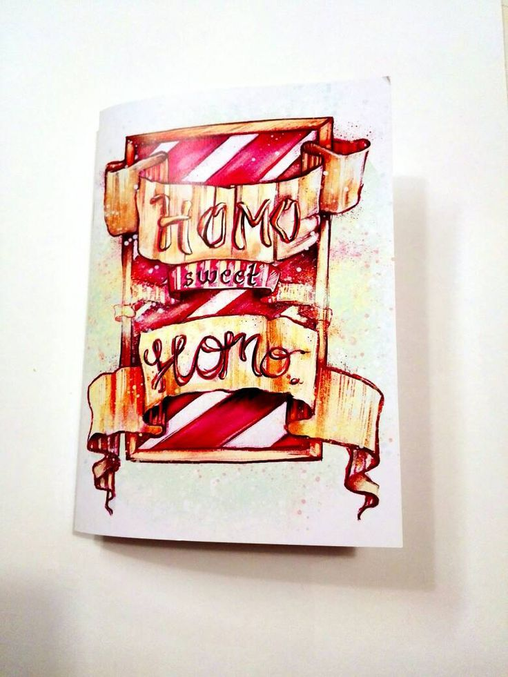 """Homo sweet homo """"Notebook""""    A little sketchbook for all fellow homoes and gay supporters.      #lgbt #gay #gayrights #homo #equality #gaynorway #norway #lgbtillustrations #loveiloveisloveislove #nilleillustrations"""