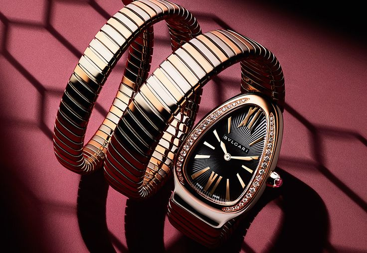 BVLGARI Serpent Time   Inspired on a the serpent this watch is going to be a fantastic and unique design   www.bocadolobo.com   #bvlgari #luxury
