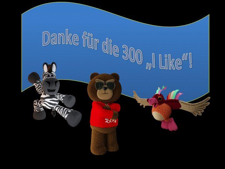 """Danke für die 300 """"ILike"""" für Operation Cheesestorm"""
