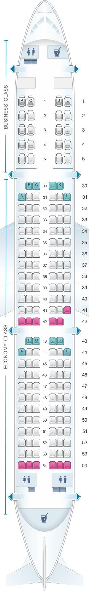 Seat Map Saudi Arabian Airlines Airbus A321