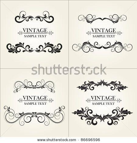 Set of vintage floral frame.  Element for design. by Helga Pataki, via Shutterstock