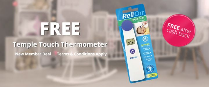 """How to get this freebie:Visit the offer hereCreate your account with an email and passwordClick on the """"Get Cashback"""" button and it will take you to Walmart. If you are on mobile you will need to scroll down and click """"View Desktop Site"""" or you wan't see the button.Add 1 """"ReliOn Temple Touch Thermom"""