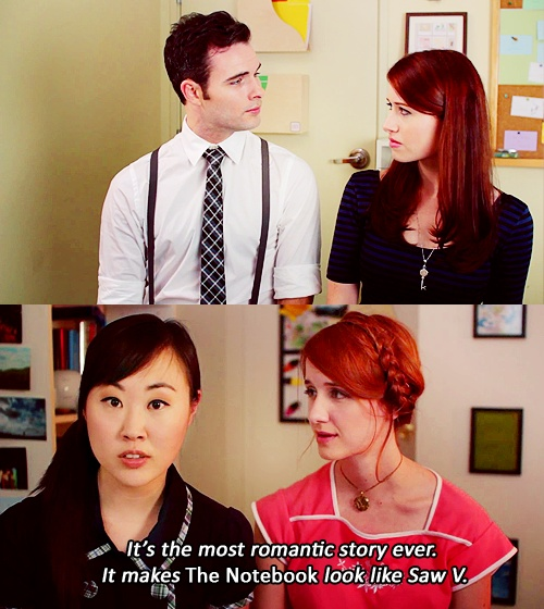 """The most romantic story ever, it makes The Notebook look like Saw V,"" -Charlotte, The Lizzie Bennet Diaries"