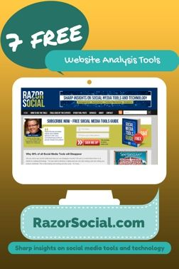 Website Analysis Tools: 7 Powerful and Free Website Analysis Tools http://www.razorsocial.com/website-analysis-tools/