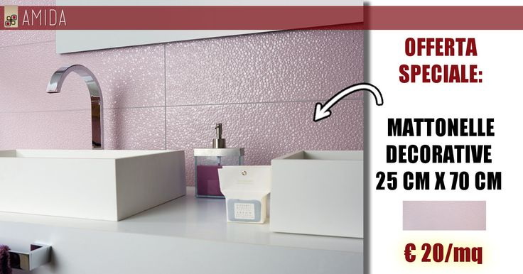 Vuoi sostituire la vecchia vasca con un comodo box doccia e non sai quale rivestimento scegliere? Prova le nostre mattonelle decorate in offerta, sono facili da pulire e riescono a mascherare le macchie di calcare, scopri di più qui http://www.amidaceramiche.it/mattonelle-decorative/
