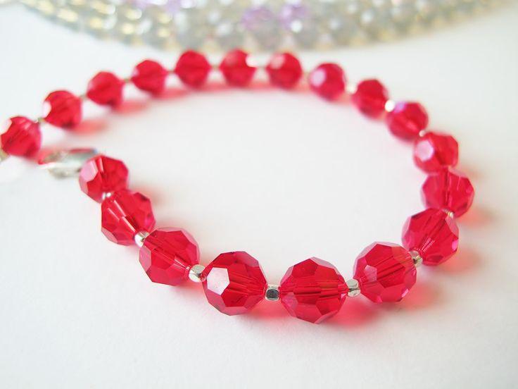 Valentine Romantic Gift-Swarovski Crystal Red Bracelet-Elegant Crystal Jewelry-My Valentine Bracelet-Unique Handmade jewelry-Red Bracelet by ClassyTouchByValia on Etsy