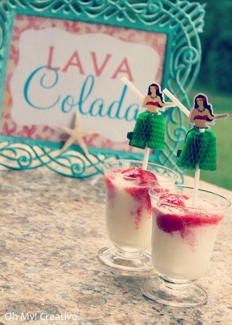 Lava Colada - Hawaiian Luau Drink - OHMY-CREATIVE.COM