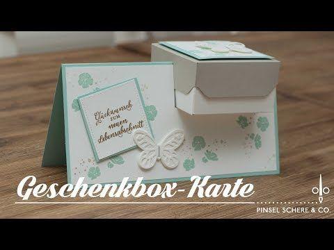 Geschenkbox-Karte mit Produkten von Stampin' Up!   Hochzeit   Ruhestand   Neuer Lebensabschnitt - YouTube