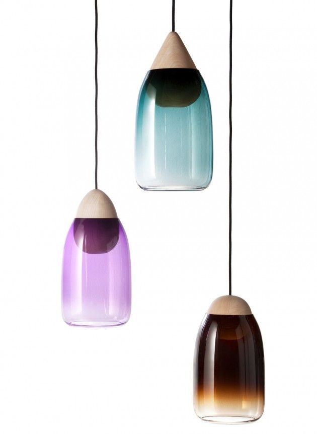 Maija Puoskari has designed Liuku, a pendant light, that will be shown during the Salone Satellite exhibit in Milan, as part of Salone del Mobile in April 2014.