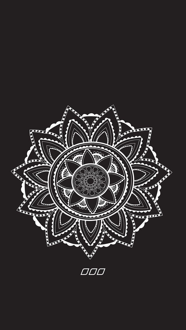 Wallpaper iphone mandala - Phone Backgrounds Phone Wallpapers Black Wallpaper Flower Drawing Tutorials Dairy Starbucks Beautiful Things Bohemian
