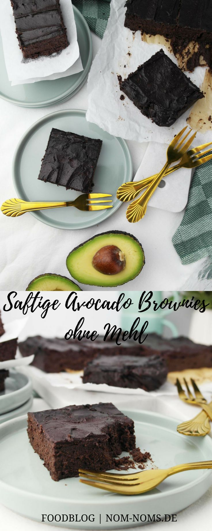 Juicy avocado brownies without flour