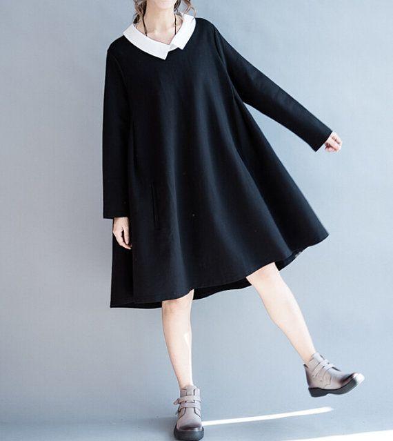 Love respiratory/ Loose doll cotton Asymmetry dress by MaLieb