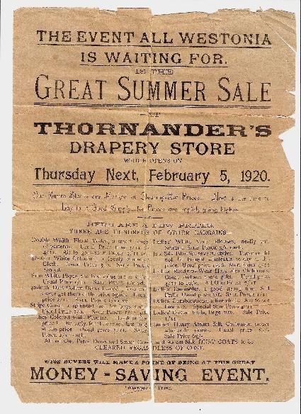 Grandmother Thornander's drapery store  Feb 5 1920. Boulder, Kalgoorlie gold fields. Western Australia