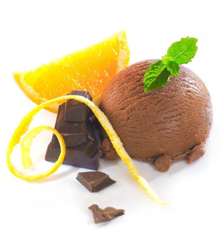 Čokoládovo-pomarančová zmrzlina