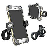 Phone Holder for Bicycle and Motorcycle, Tackform [Rigid Design] Freedom Bicycle Phone Mount, [ 4 SAFETY SLINGS INCLUDED] Fits Any Smartphone, Holds iPhone 7, 7 Plus, SE, iPhone 6s, iPhone 6 Plus