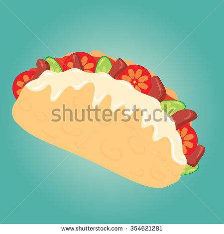 Burrito vector illustration - stock vector