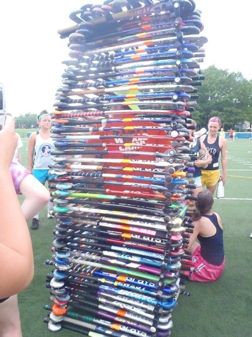 field hockey sticks tower
