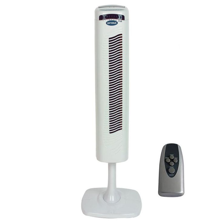 40 Pedestal Tower Fan with Remote Control & LED