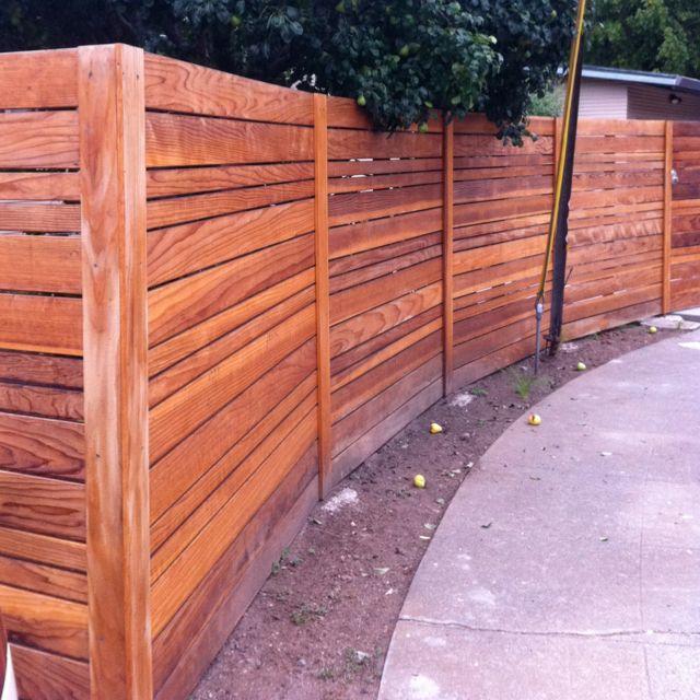 Fence idea for back yard