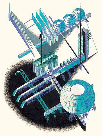 Constructivist Architectural Fantasies,  Iakov Chernikhov