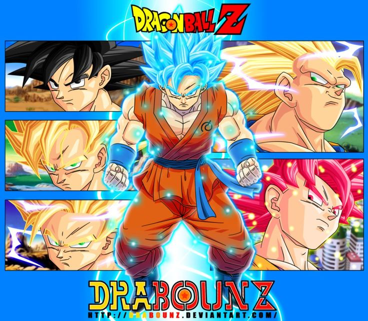 Goku transformations by DrabounZ on DeviantArt