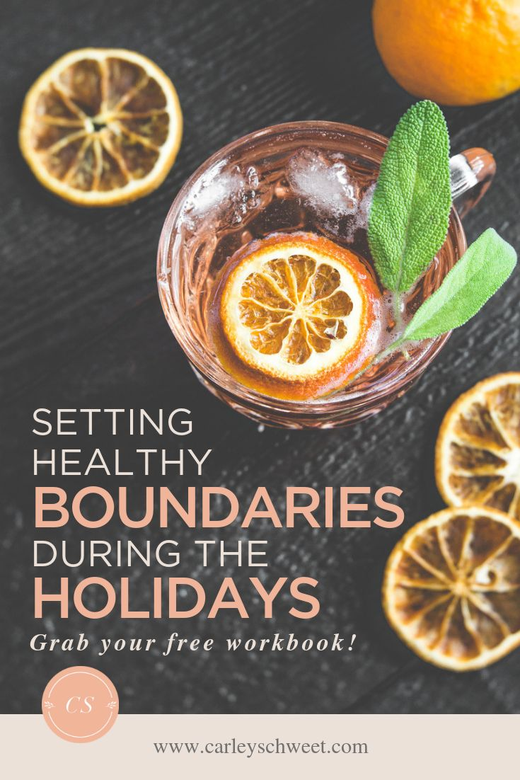 Setting Healthy Boundaries During the Holidays – ♥ self care