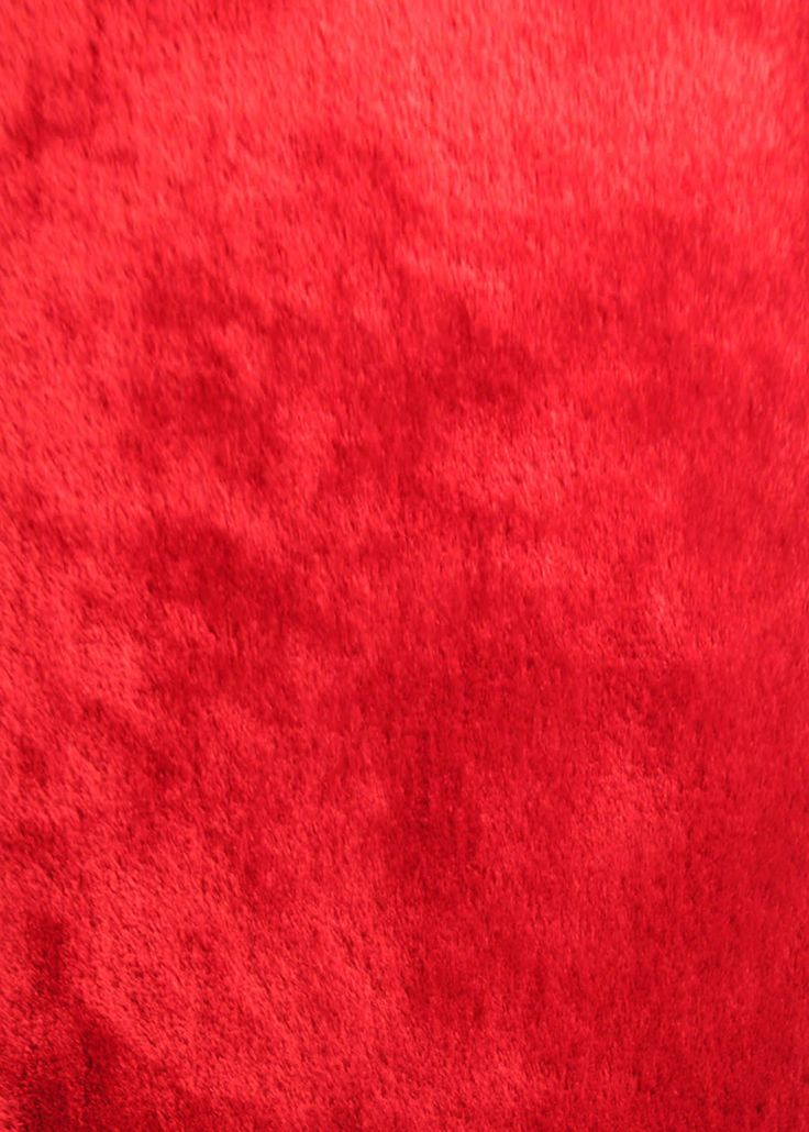 Solid Red Shag Rug from Rug Addiction