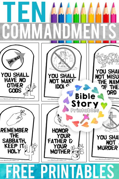 free ten commandments bible coloring pages for kids make a printable take home booklet of the ten commandments for children - Free Printable Ten Commandments Coloring Pages