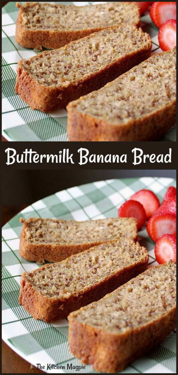 Buttermilk Banana Bread Buttermilk Banana Bread Banana Bread With Applesauce Banana Bread