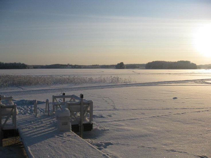 näkymä rannastamme Puruvedelle Suomi lake Puruvesi from our beach Punkaharju Finland houseforsaleFinland houseforsale