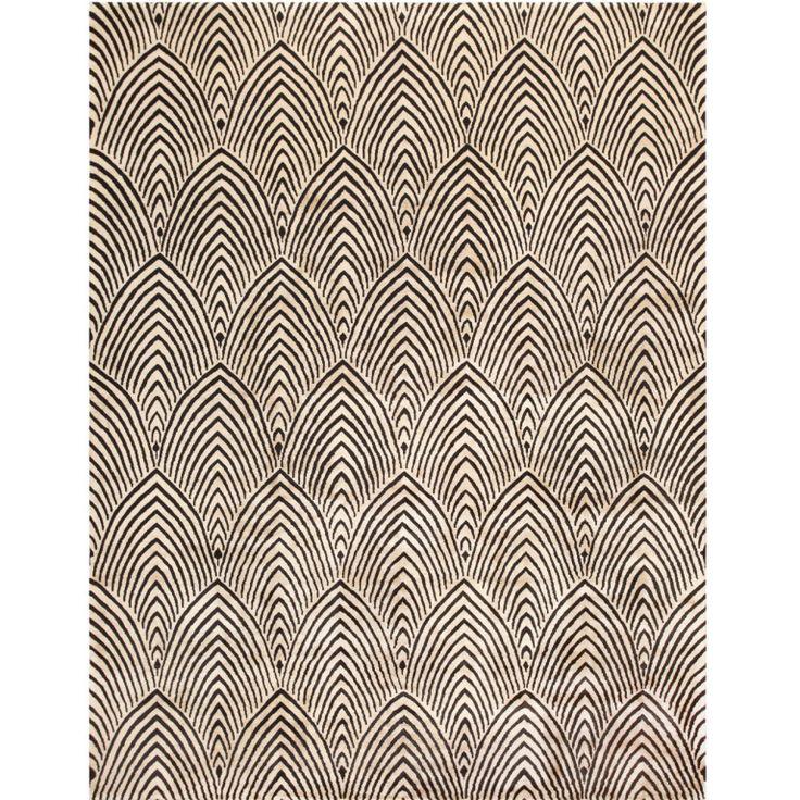 Antique chinese art deco carpet from a unique collection for Moquette art deco