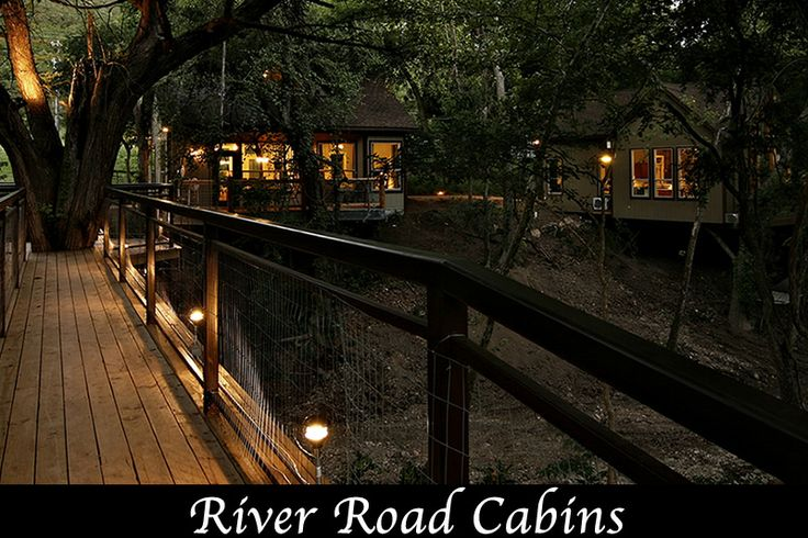 Where we stay when we float the river love these for Floating the guadalupe river cabins