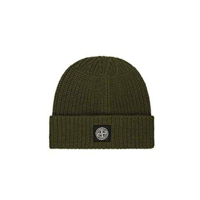 0219f7d85 Stone Island Beanie Hat with Turn-Up Fold Olive Green V0058 N10B5 ...