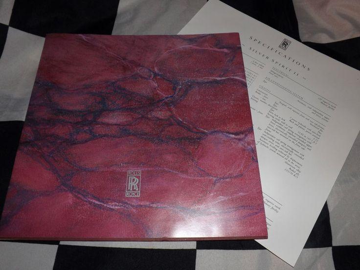 1990 ROLLS ROYCE CORNICHE III 3 SILVER SPUR SPIRIT II 2 BROCHURE PROSPEKT LARGE
