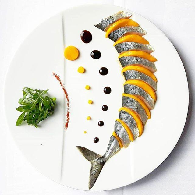 chefsofinstagram - Mackerel & Mango Ceviche. ✅ By - @charles__drouin ✅