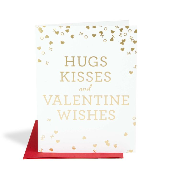 Hugs, Kisses and Valentine Wishes – Valentine's Day Card by The Social Type